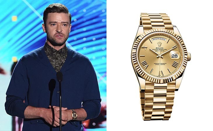 Justin Timberlake, Rolex Oyster Perpetual Day Date 40