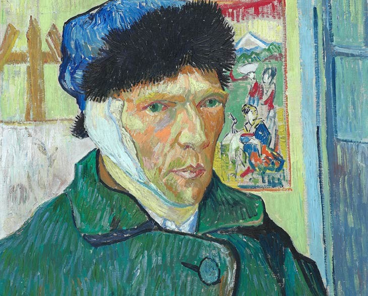 Self-Portrait with Bandaged Ear, The Courtauld Gallery; Londra