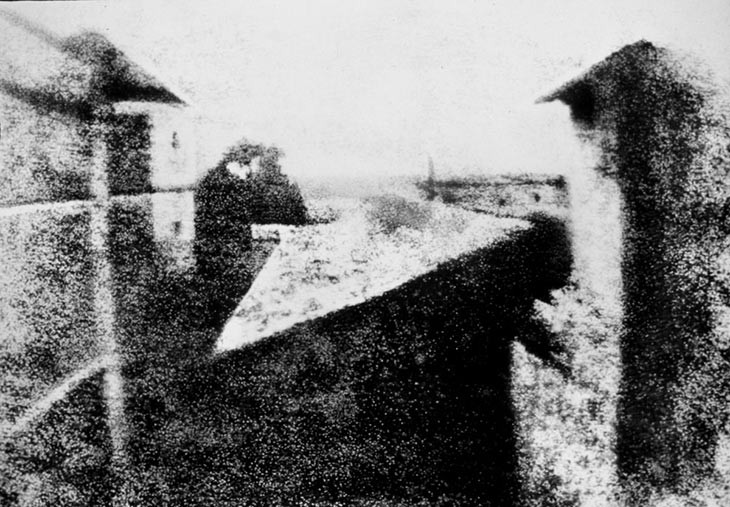 Nicéphore Niépce,View from the Window at Le Gras, 1826–27