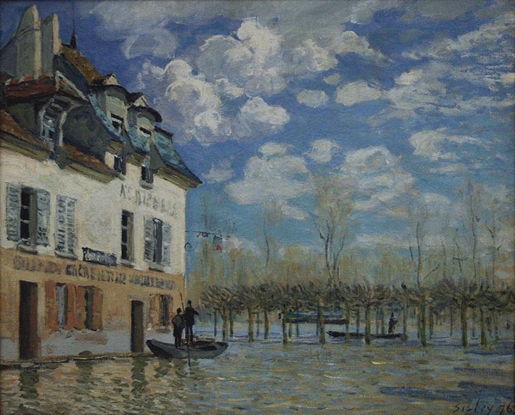 L'inondation à Port-Marly, Alfred Sisley