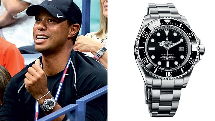 TIGER WOODS–ROLEX OYSTER PERPETUAL DEEPSEA